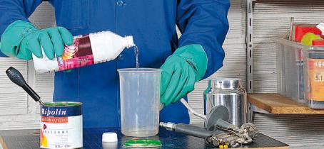 Bricoler en toute sécurité avec des produits solvants adaptés